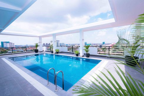 One Bedroom Apartment for Rent in Toul Kork, Pool and Gym (1)