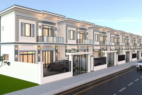 Linked House for Sale in Borey ML Vimean Mongkul Kombul (1)