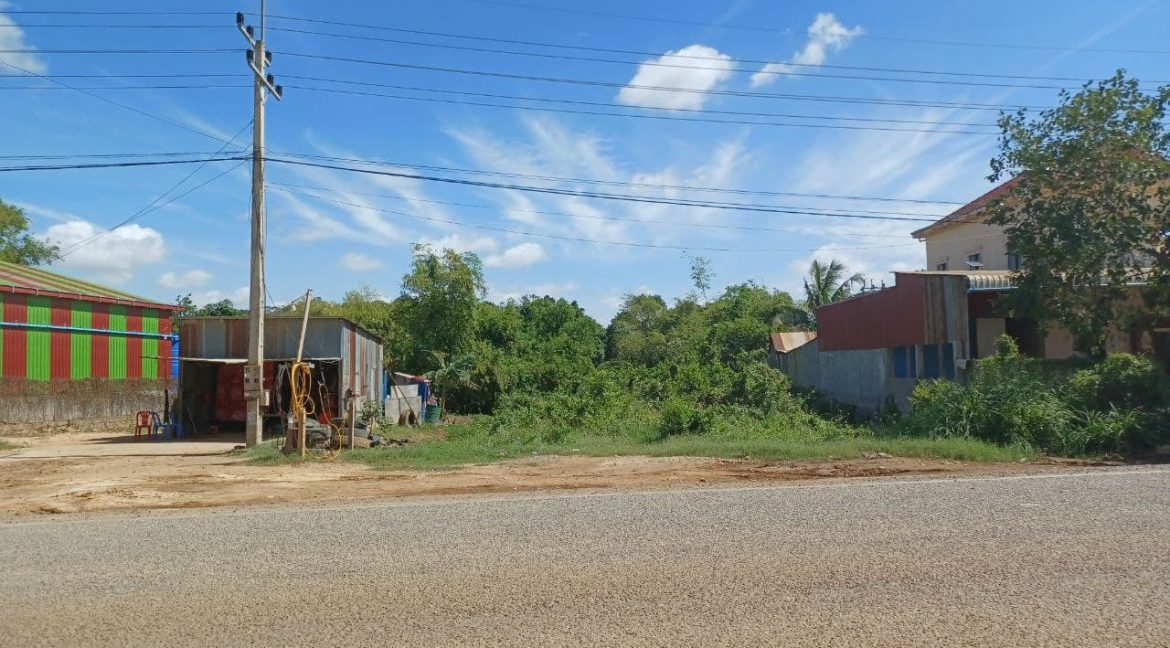 Urgent Land for Sale in Dangkao along Main Road 20A (1)